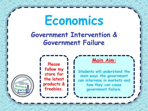 economics essay government intervention