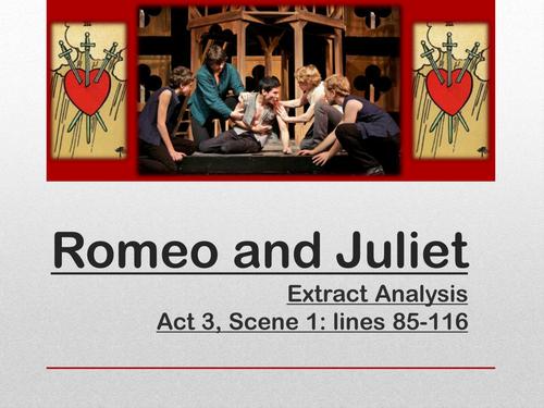 Romeo & Juliet - Eduqas/WJEC GCSE English Literature: Extract Preparation - Mercutio and Romeo