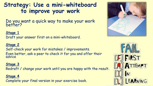 Using mini whiteboards AfL poster