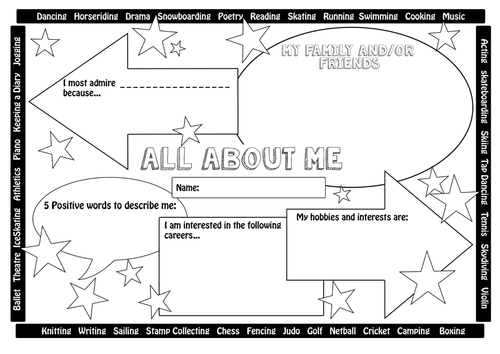 All About Me (new class / transition) Bundle by