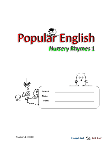 Nursery Rhymes (reading and hand writing)