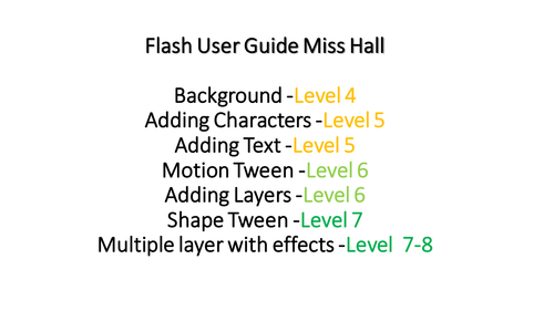Adobe Flash CS5.5 full user guide with levels 4-8