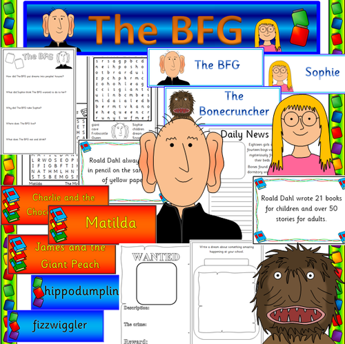 Bfg speech worksheets by julianne26 teaching resources tes for Roald dahl book review template
