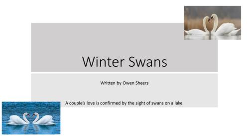 Winter Swans GCSE Poetry Analysis AQA Relationships Anthology - English Literature