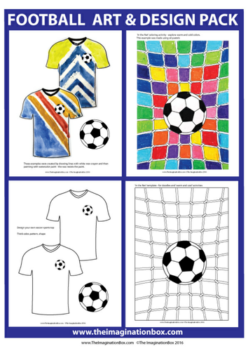 Football, sport themed  art, design and classroom decor resource
