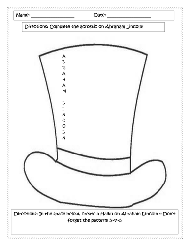 *FREEBIE* Poetry With Abraham Lincoln