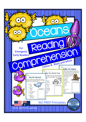 Oceans Reading Comprehension