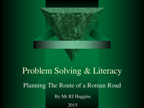 Roman Roads problem solving / literacy exercise