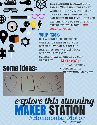 6 Stylish Makerspace Task Cards **Real Time Saver-Just Print**