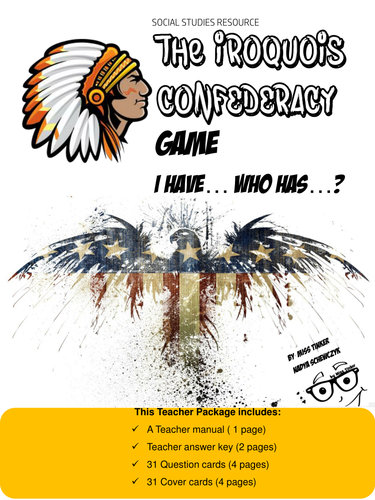 """Iroquois Confederacy """"**Fun Review Game-Engage the entire Class!**"""