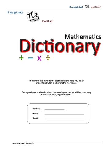 Basic Maths Dictionary