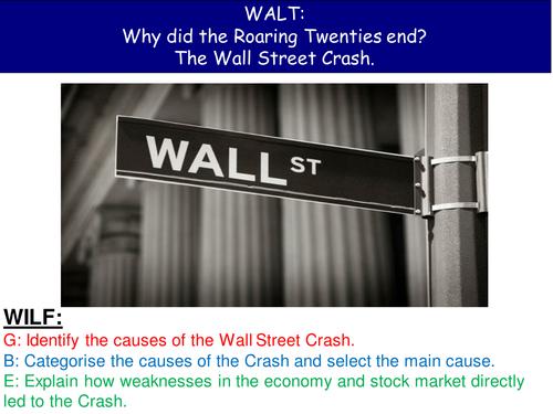 Wall Street Crash Roaring 20s USA
