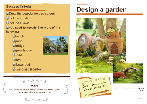 scale drawing garden design by mariamartin teaching resources tes