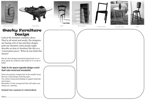 Design technology cover lesson or homework worksheets ks3 - Design and technology lesson plans ...