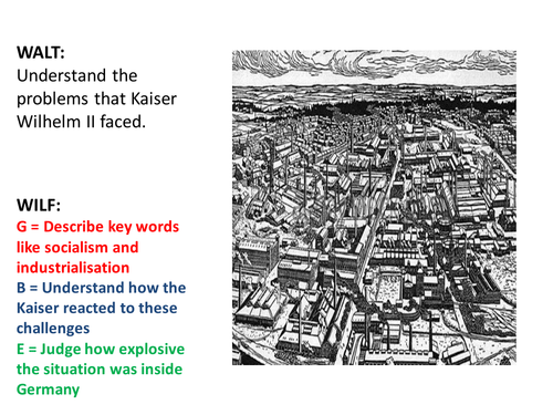 Kaiser Wilhelm's problems. Industrialisation, socialism and democracy in Germany. AQA GCSE History