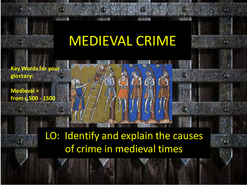 Medieval Crime and Punishment - Anglo Saxons - Normans