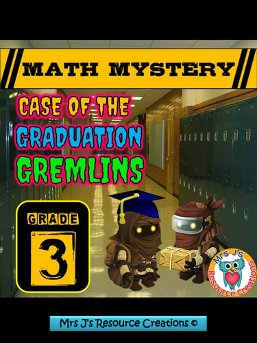 End of Year Math Mystery Activity (Mixed Math Review) - GRADE 3