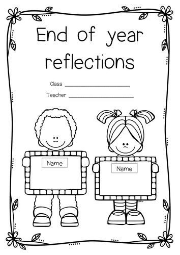 End of year booklet, transition to next year