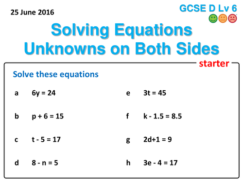 how to solve equations with fractions on both sides
