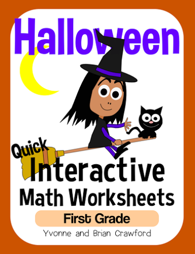 Halloween Math Interactive Worksheets First Grade Common Core