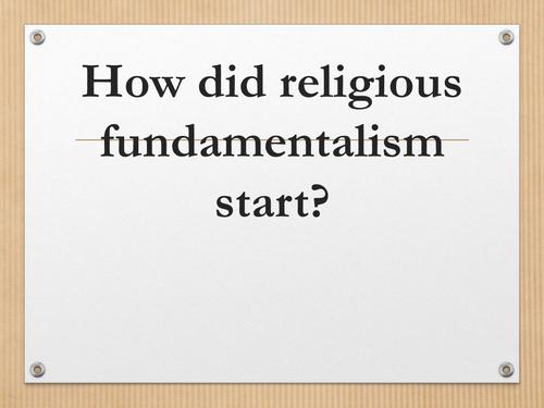 The origin of Christian Fundamentalism
