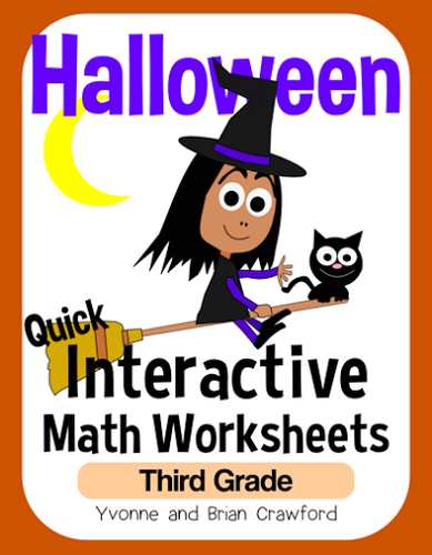 halloween math interactive worksheets third grade common core by yvonnecrawford teaching. Black Bedroom Furniture Sets. Home Design Ideas