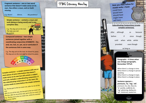 SPAG Literacy Overlay for Self and Peer Assessment