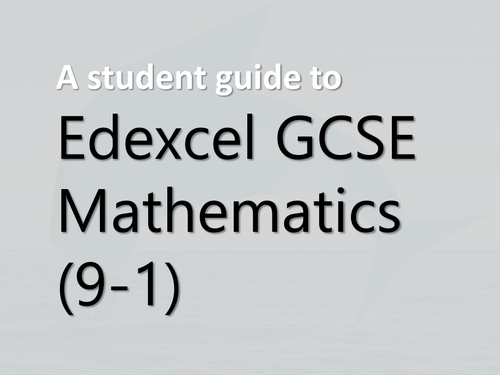 A student guide to the new GCSE