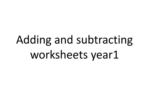 adding and subtracting worksheets for year 1 by – Adding and Subtracting Worksheets Ks1