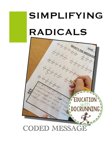 Simplifying Radicals: Practice and Review Coded Message