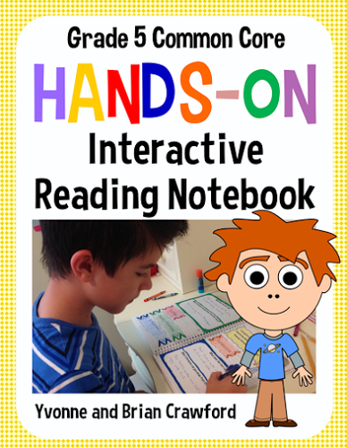 Interactive Reading Notebook Fifth Grade Common Core
