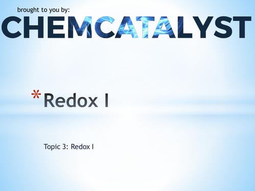 EdExcel – AS Chemistry – Topic 3: Redox I