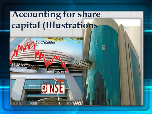 Illustrations on share capital Accounting - Journal Entries (Solved)