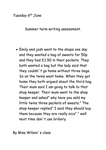 Writing Assesment