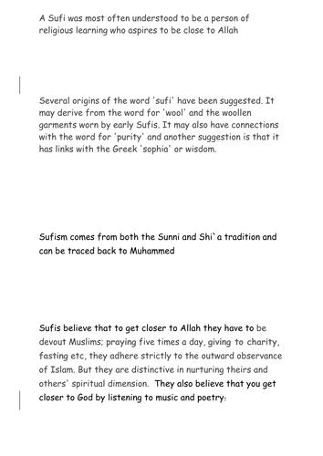 Alternative Lesson 5/10 - Sufism