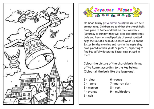 French vocabulary - Easter activities
