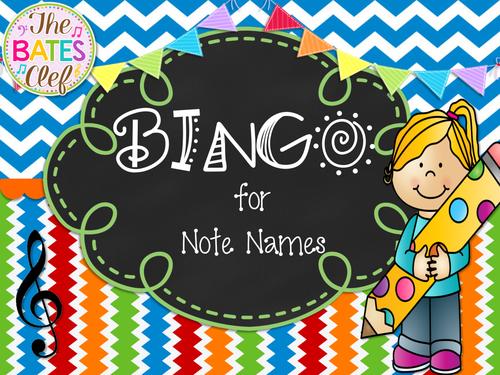 Note Name BINGO - Treble Clef