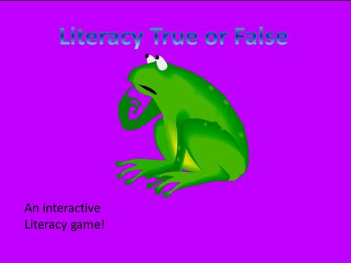 Literacy Game - True or False