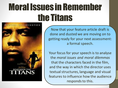 Introduction to Remember the Titans and film techniques by lrigb4 – Remember the Titans Worksheet