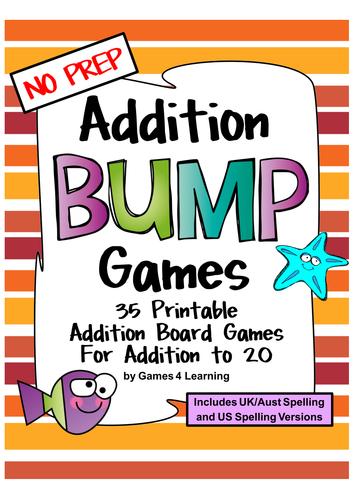 Addition Games 35 Addition Bump Games