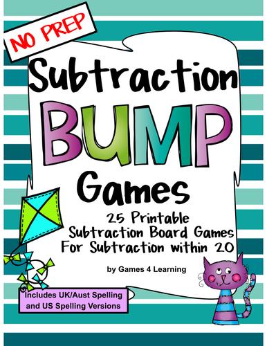 Subtraction Games 25 Subtraction Bump Games