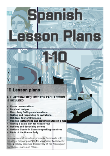 Spanish Lesson Plans Bundle 1 ( appropriate for Secondary School )