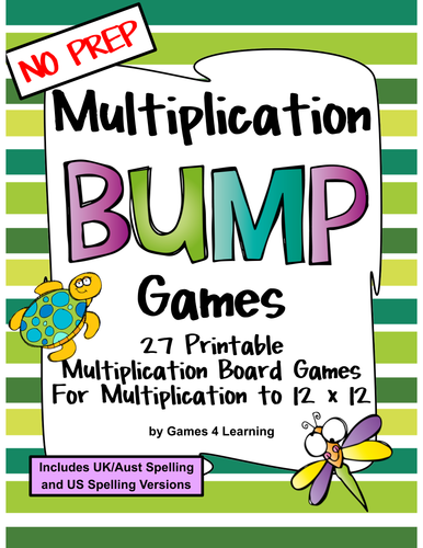 Multiplication Games 27 Multiplication Bump Games