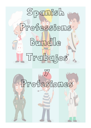 Spanish Jobs| Professions Pack