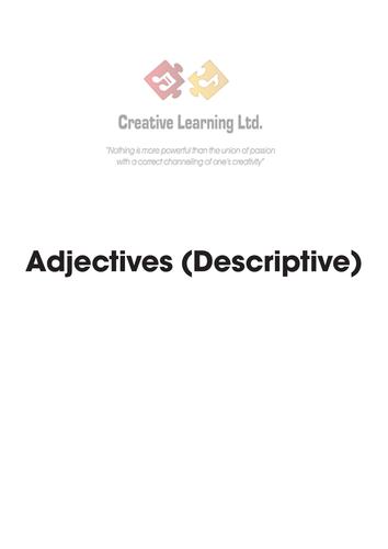 Spanish Adjectives worksheets