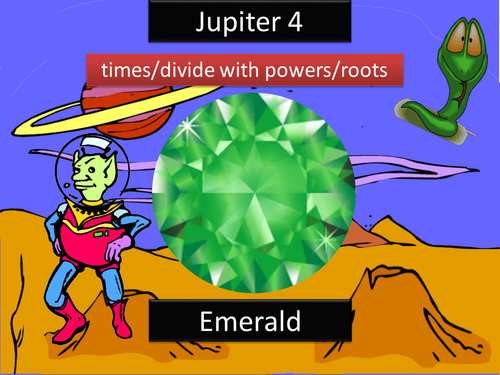 Jupiter - Multiplication, and Division with Powers, and Route