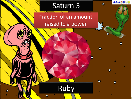 Saturn - Fractions with powers