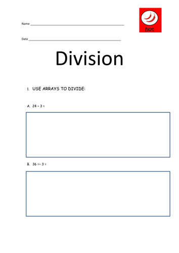 Division using pictures and arrays by cloweenakniveteena – Division Arrays Worksheets