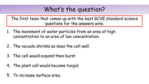 AQA Exchange Surfaces