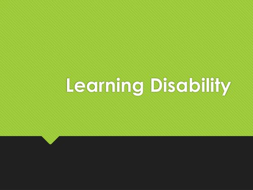 Introduction to Learning Disabilities and Advocacy